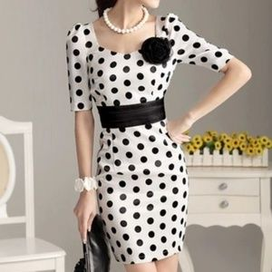 Pinup Polka Dot Dress